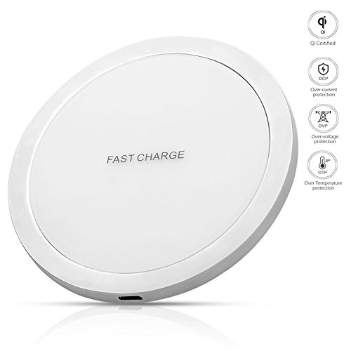 QI Wireless Charger for Cell Phone Fast Wireless Charger Wireless Charger Pad for iPhone X Android Charger Pad for iPhone 8/8 Plus/Samsung Galaxy S8/S8 Plus/Note 8/S6 Edge/HTC/Sony/Windows Phone by Engilen