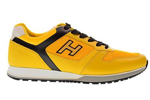 Hogan Sko Mænds Lave Sneakers Hxm3210y861ii4961l H321 Gul / Sort IzBeiItu