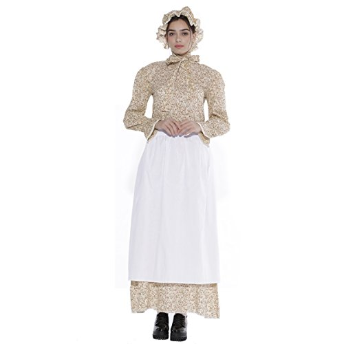 KOGOGO Prairie Colonial Dress Reenactment Pioneer Women Costume(Large) -