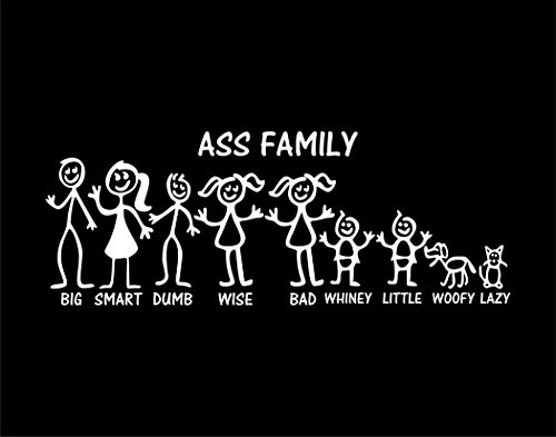 Ass Stick Figure Family 11-1/2