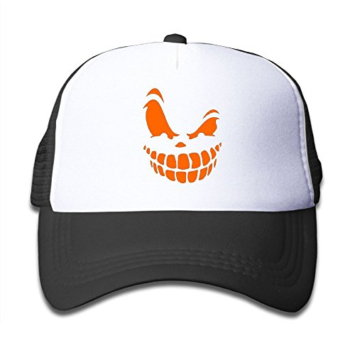 Elephant AN Halloween Pumpkin Face Mesh Baseball Cap Kid Boys Girls Adjustable Golf Trucker -