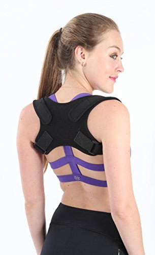 Adjustable Posture Corrector for Women and Men by StraightUp - Effective Back Brace for Slouching and Hunching - Discreet Design for Daily Use - Provides Relief from Neck, Shoulder and Back Pain