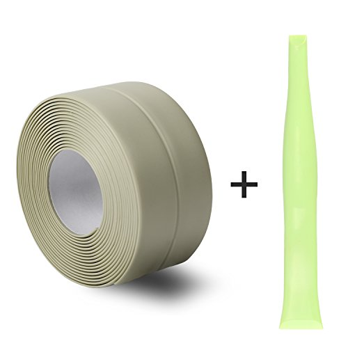 Silicone Caulk Strip,PVC Strong Self Adhesive Tub Sink Wall Sealing Caulk tape 1-1/'' x11 Green by Oumers