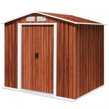 ... de metal caseta de jardín de la casa de los dispositivos de casa de riverton 6 x 4 Meter en imitación a madera: Amazon.es: Bricolaje y herramientas
