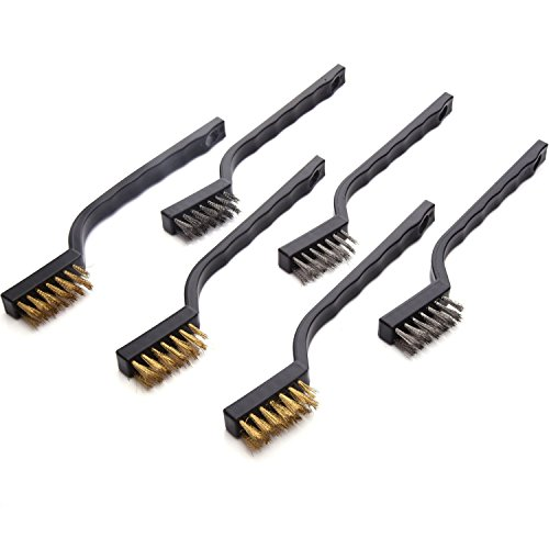 (eBoot Mini Wire Brush Set for Cleaning Welding Slag and Rust, 6 Pack, Stainless Steel and)