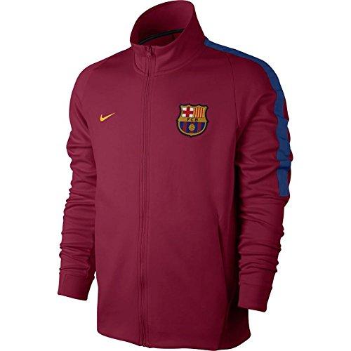 (Nike FC Barcelona Soccer Franchise Jacket (Small) Noble)