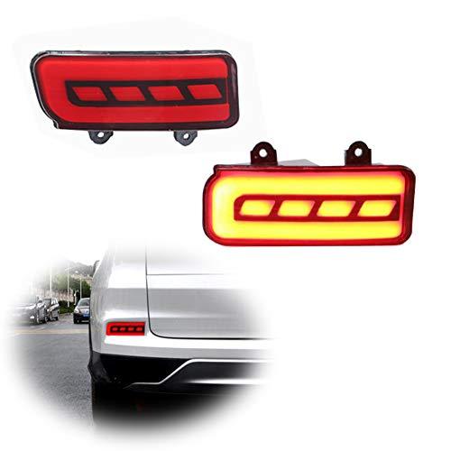 (2PCS LED Rear Bumper Reflectors Red Rear Fog Light Brake light & Tail Light Lamps For 2015 2016 Honda CRV CR-V )