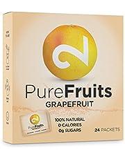 DUAL Pure Fruits Grapefruit| 100% naturel|Du Vrai Jus de Pamplemousse|Enrichi en Vitamine C | 24 Sachets |2g par Sachet|52 litres de Jus|Lab Certifié|Sans Sucre |Sans Additifs|Fabriqué dans l'UE