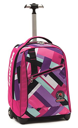 Invicta School 206001635-414 Trolley Zaino, Spallacci a Scomparsa, 35, litri, Poliestere, Rosa