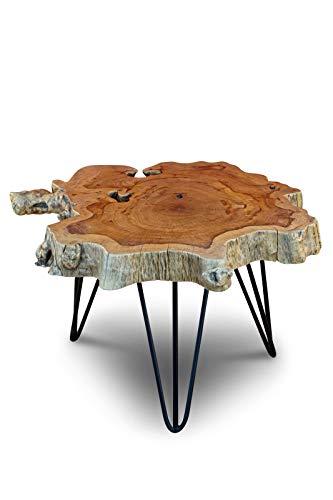 Kinaree 65 cm Algodón - Mesa Lychee de Madera Maciza: Amazon.es ...