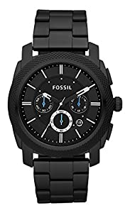 Fossil Men's FS4552 Machine Black Stainless Steel Chronograph Watch