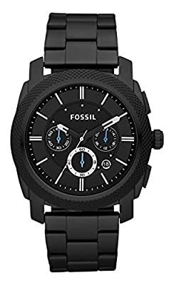 Fossil Men's FS4552 Machine Black Stainless Steel Chronograph Watch