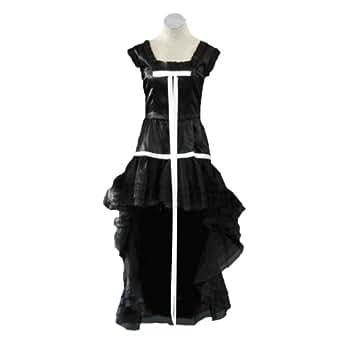 Chobits Cosplay Costume - Chii Black Dress 1st Kid Large
