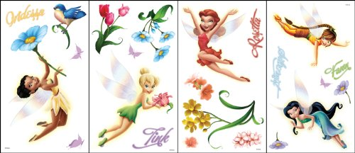 (Blue Mountain Wallcoverings GAPP1837 Disney GAPP1837 Fairies Movie Wall Appliqué)