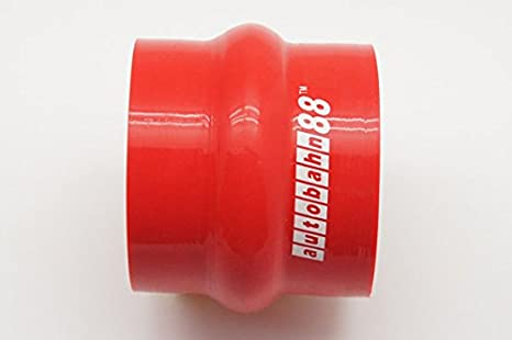 """RED 4/""""-4/"""" AIR INTAKE//PIPING RUBBER COUPLER FOR INFINITI"""