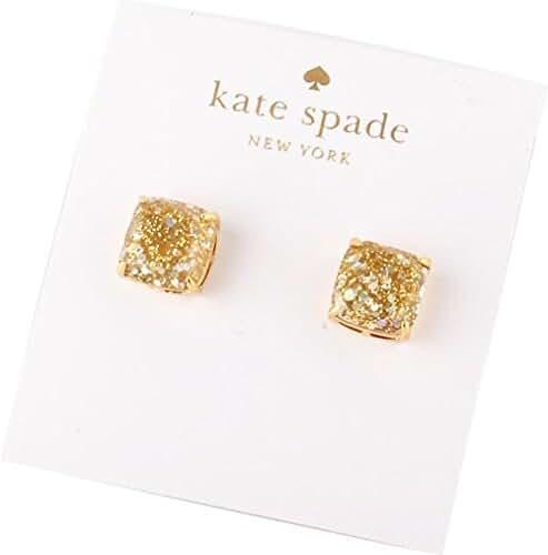 kate spade New York Mini Gold Opal Glitter Stud Earrings 12k GP Gold