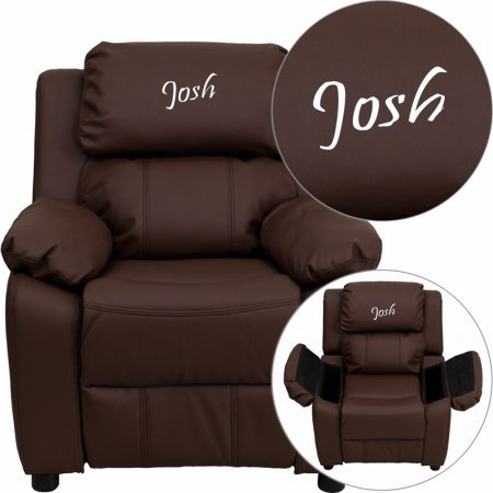 Personalized Deluxe Kidu0027s Recliner Upholstery Brown Leather & Amazon.com: Personalized Deluxe Kidu0027s Recliner Upholstery: Brown ... islam-shia.org