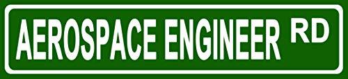 Makoroni - Aerospace Engineer Career Novelty Street Sign Aluminum Metal 4x18 inc - Engineer Street Sign
