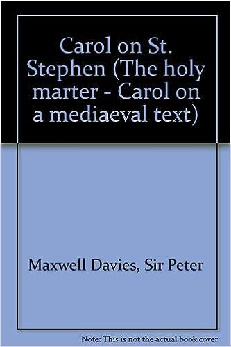 Téléchargements de livres électroniques gratuits Carol on St. Stephen - 'The holy marter' - Lied auf einen mittelalterlichen Text - choeur mixte (SATB) - Partition de choeur - ED 11269 PDF FB2 iBook 0220109249