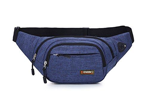 EAOOK Waterproof Travel Belt,Big Fanny Pack for Outdoor Sport/Money Belt