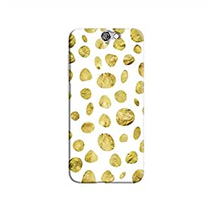 Cover It Up - White Pale Gold Pebbles One A9 Hard case