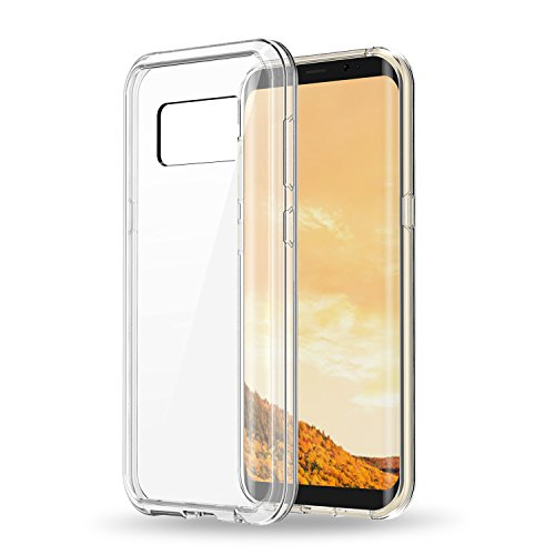 Galaxy S8 Case, CHOETECH Crystal Clear Slim Hybrid TPU Bumper+Acrylic Back Cover Anti-scratch Protective Case for Samsung Galaxy S8