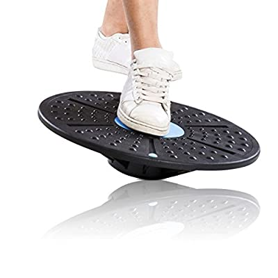 Balance Wobble Exercise Fitness Board - Stability Balancing Board as Rehabilitation Equipment Trainer Used for Physical Therapy, Knee & Ankle Rehabilitation, Yoga for Adults and Kids, Also for Dogs