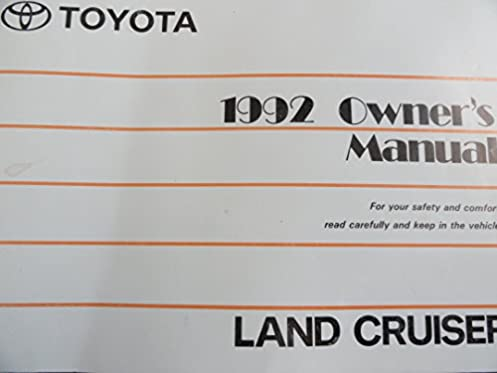 1992 toyota landcruiser land cruiser owners manual toyota amazon rh amazon com 2008 land cruiser owners manual 2005 land cruiser owners manual