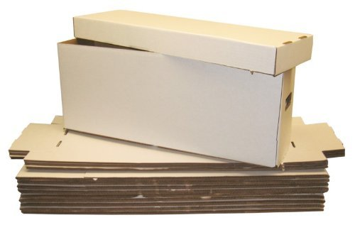 5 Long Collectible Comic Book Cardboard Storage Boxes for Comics by Collector's Supply Co