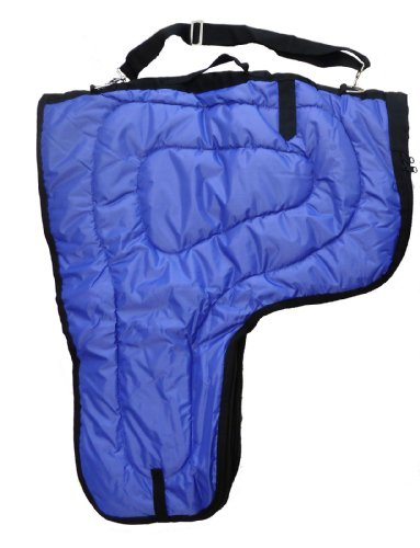 Western Horse Saddle Carrier Cover Large Bag Fully Lined and Padded Royal Blue -