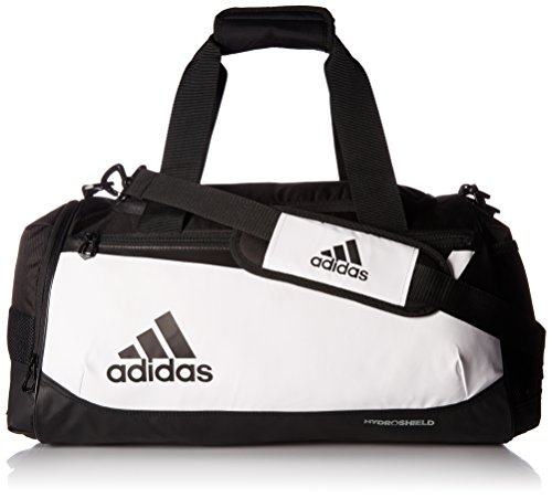 adidas Team issue small duffel Bag, White/Black, One Size