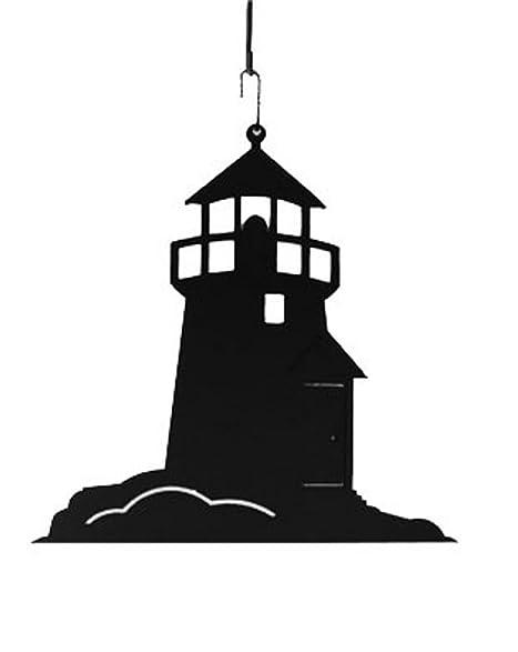 amazon com iron lighthouse christmas decoration hanging silhouette