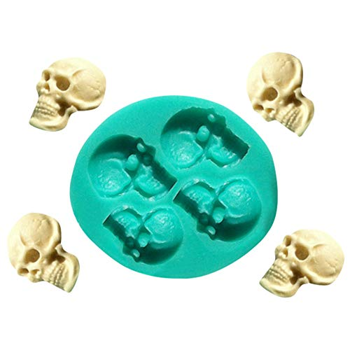 Euone Mold Clearance , Skull Head Silicone Fondant Cake Mould Halloween Chocolate Mold -