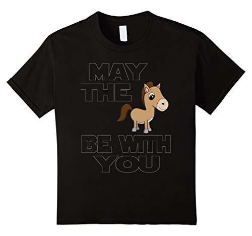 Kids May the Horse Be With You Parody TShirt 10 Black