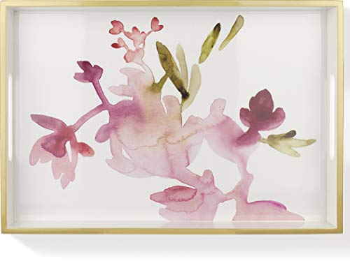 Price comparison product image Fringe Studio Watercolor Floral Lacquered Tray