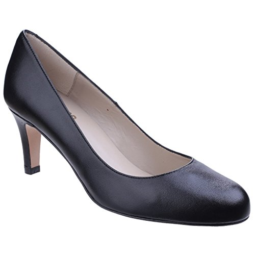 Elegante Riva Tacones Mujer Zapatos Cuero Zapatillas Fermo Negro ABqqzYav