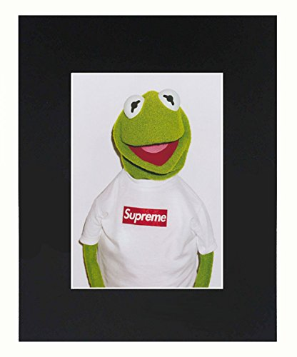 Supreme X Kermit the frog print poster matte urban street dope Cool 8x10 Black Matted Art Artworks Print Paintings Printed Picture Photograph Poster Gift Wall Decor Display USA - Poster Best Seller Print