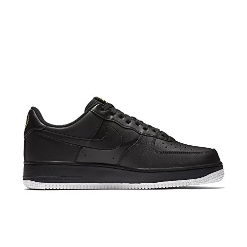 NIKE Mens Air Force 1 Low 07 Crest Basketball Shoes Black/Summit White/Metallic Gold AA4083-014 Size 8 by NIKE