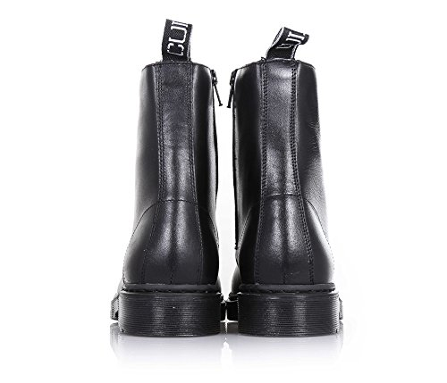 visible and Girls applications decorative Black zipper sole up with Girl of lateral lace Child boot leather made CULT metal stitching Black rubber wZW7gvROqO