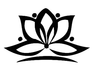 Amazoncom Lotus Flower Temporary Tattoo Semi Permanent Flower