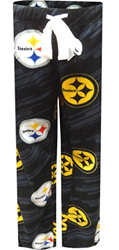 Pittsburgh Steelers Ladies Two-Tone Fleece Lounge Pants for women (Medium)