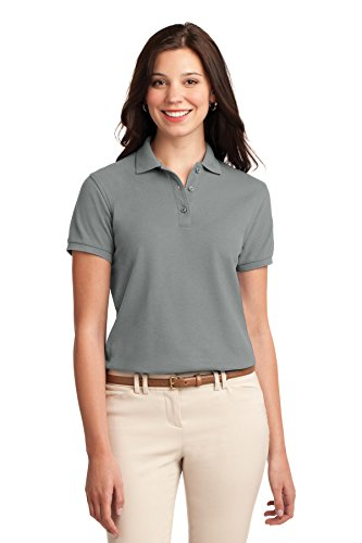 - Port Authority Women's Silk Touch Polo XL Cool Grey