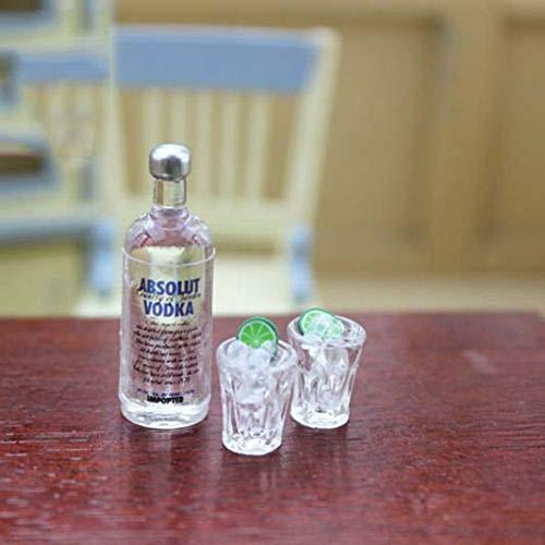 Miniature Vodka Bottle 1/6 1/12 Scale Model Home Decor Bottled Mini