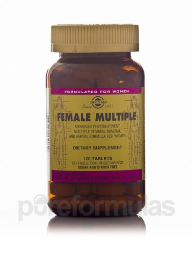 Solgar. Female Multiple-vitamin, 120 T. (4 Pack
