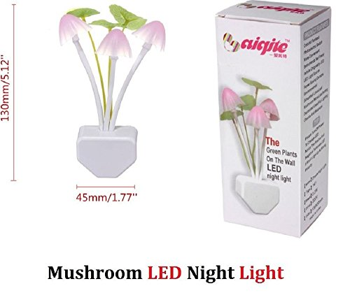 Armyshop Sensor Night Light Mushroom LED Lamp EU/US Plug Romantic Colorful Home - Walmart Glasses Nerd
