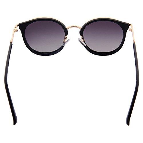 OGOBVCK Cateye Black espejo moda sol de uv400 sexy gafas gafas mujer polarizada es moderna gafas la 6wrqg6Ha