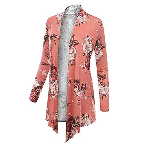 Format Charmant Veste Imprimé Grand Dame Femme D'hiver Manteau Amuster Rose Pour qanWR6w