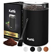 #LightningDeal Electric Coffee Grinder by Kaffe - 3oz Capacity with Easy On/Off Button. Cleaning Brush Included!