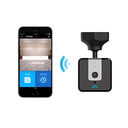 Momentum NIRO Wi-Fi Garage Door Opener with Camera and Smartphone Control   Motion Zone Detection, 2-Way Audio, Open/Close/Live Video/Free Cloud Storage, Remote Control with iPhone or Android   Black