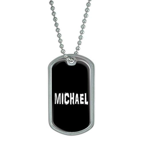 MICHAEL Name Military Luggage Keychain